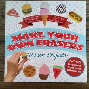 🍩 Make Your Own Erasers Project Kit NIB❗🍦🌭